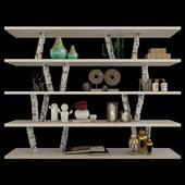 SHIRO SHELVING by KOKOARCH bookcase with decor