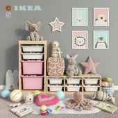 IKEA storage furniture, toys and decor for a children's room set 3