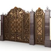 Exclusive gate with wicket door