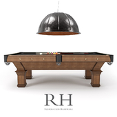 RH/ BRUNSWICK VINTAGE 1906 BILLIARDS TABLE