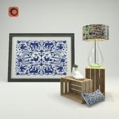 Mexican Otomi decoration set