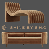 Shine by S.H.O. Clarisse sofa and Sacha chaise
