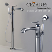 Floor mixer for bath with hand shower Cezares Liberty F-VDP-01