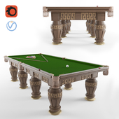 Billiard table in the Greek style
