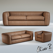 Oliver B. PUFFED 3 seater sofa