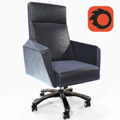 ZURI FURNITURE LAUREN LEATHER EXECUTIVE CHAIR