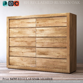 RECLAIMED RUSSIAN OAK 10-DRAWER DRESSER