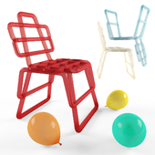 Inflated chair in 6 colors + baloons