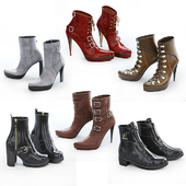 6 pairs of women's shoes - 2