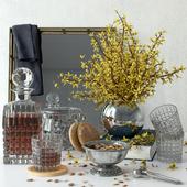 Forsythia decorative set