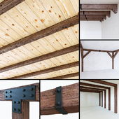 Decorative wooden beams
