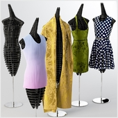 Mannequins with clothes