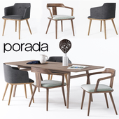 Dining chair and table Porada