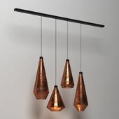 Cooper rust lamp