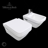 Toilet and bidet Villeroy & Boch Architectura.