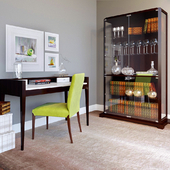 SELVA COLLECTION:writing-desk Waldorf,chair Sorrento and Glass case Downtown