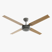 Ceiling Fan - Hanter Chronicle silver and wood