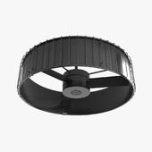 Ceiling fan - Hanter Vault black with wood