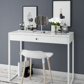 Dressing table with decoration