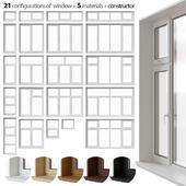 A set of plastic windows
