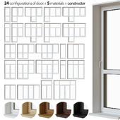 A set of plastic balcony doors