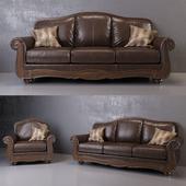 Barcelona Antique Sofa and Armchair