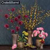 Crate & Barrel Flower set