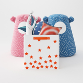 A set of toys from bloomingville and the land of nod