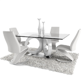 Dining Room Set in White