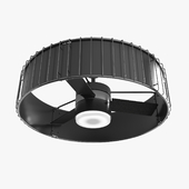 Ceiling Fan - Hanter Vault black and wood with lighting