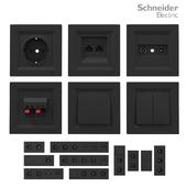 Sockets and switches Schneider Asfora Black.