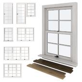 American type of plastic windows