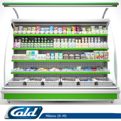 Wall-mounted refrigerated display case