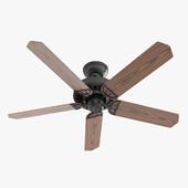 Ceiling Fan - Hanter Bridgeport black with wood