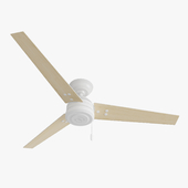 Ceiling Fan - Hanter Cassius white with light wood