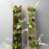 Flowers in wood 3D model