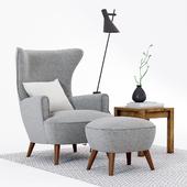 Scandinavian Designs Katja High Back Chair