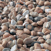 Collection pebble river / Collection of river pebbles