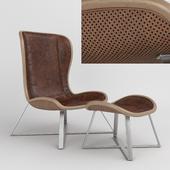 Volare Lounge Chair Ottoman Stool