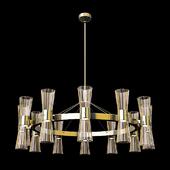 Gold Leaf Murano Glass Chandelier