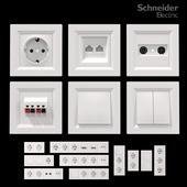 Sockets and switches Schneider Asfora White.