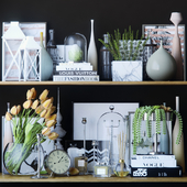 Black and white decor set 3
