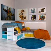 Double bed for children
