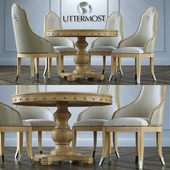 Table + chairs Uttermost Sylvana