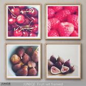 JUNIQE Fruit set framed