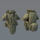 Assault bulletproof vest 6B43 RF