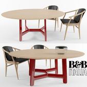 Table + chair Alex by B & B Italia