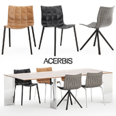 Acerbis Airy chair | Axis table