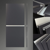 Facades with integrated handles