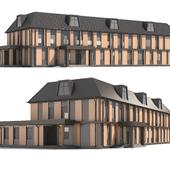 Двухэтажное муниципальное здание.